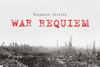 Poster for BCCO performance of Benjamin Britten's War Requiem, by Kris Kargo