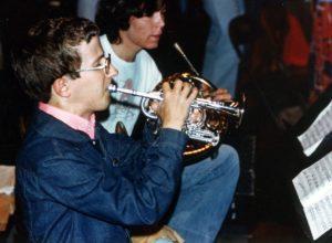 Dana Kemp plays the trumpet.