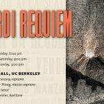 BCCO will perform Verdi's Requiem on June 4, 5, and 6, at Hertz Hall in Berkeley