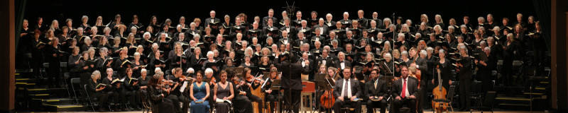 Bill Hocker photo of BCCO singing Bach's St. John Passion
