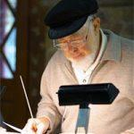 Maestro Joe Liebling prepares the chorus at a 2011 dress rehearsal.