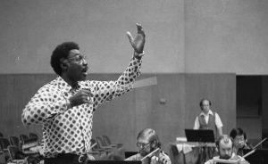 Eugene Jones rehearses the BCCO, 1979. Photo by Dewey Livingston