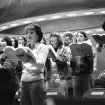 Rita Dichtel and Heidi Zemock in alto section. Photo courtesy of Dewey Livingston