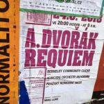 Poster for BCCO Performance of Dvorak Requiem in Prague