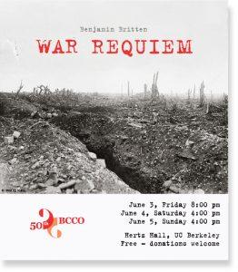 BCCO performs Benjamin Britten's War Requiem, poster