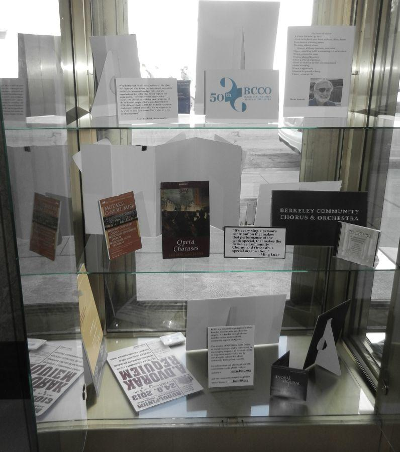 Berkeley Community Chorus & Orchestra history on display at the public library