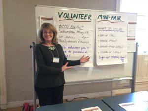 Julie Fryckman coordinates volunteers for BCCO's many tasks