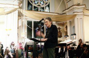 Arlene Sagan conducting at St. Joseph the Worker Church