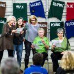 Untalent Show performance of The Tritones: Johanna Clark, Nancy Brink, Nadine Hendricks, Pam Miller, and Mary Rogier