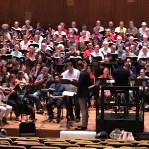 Brian Thorsett and Efraín Solís rehearse for the War Requiem