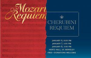 BCCO poster for January 2017 performances of Mozart's and Cherubini's Requiems