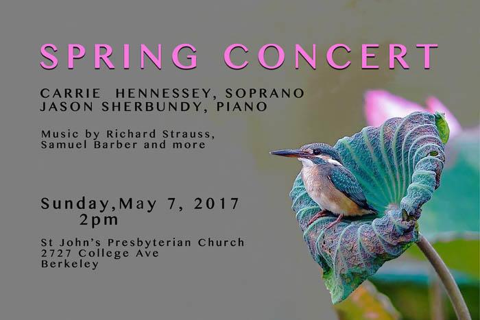 Poster for BCCO spring benefit concert