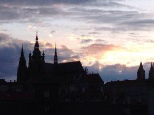Castle sillhouette, Prague. Photo by Nancy Sue Brink