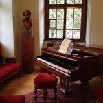 Dvorak's piano at the Dvorak Museum, Prague. Photo by Nancy Sue Brink