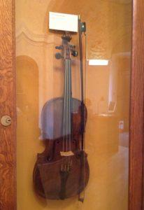 Dvorak's Violin at Dvorak musem. Photo by Nancy Sue Brink