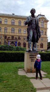 Statue of Antonin Dvorak, Prague. Photo by Nancy Sue Brink