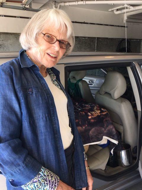 Betty Pigford, packed for southern California