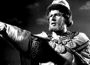 Nikolay Cherkasov as the title character in the film Alexander Nevsky (1938) by Sergey Eisenstein