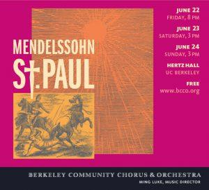 Poster for Mendelssohn's St Paul Oratorio