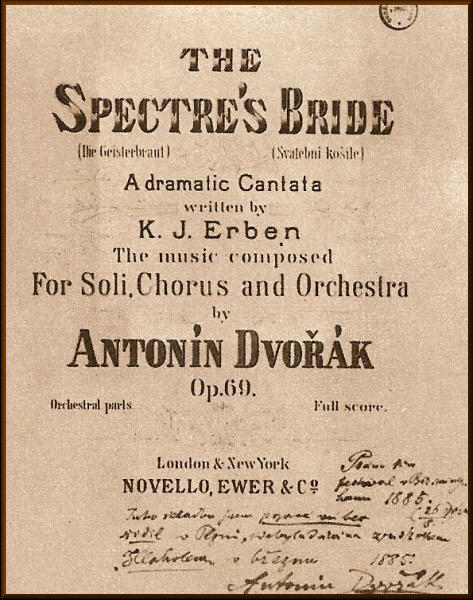 Cover for score from original performance in Birmingham, England