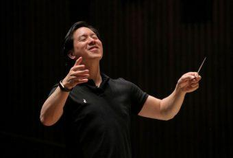 Ming Luke rehearses BCCO at Hertz Hall. Photo by Bill Hocker