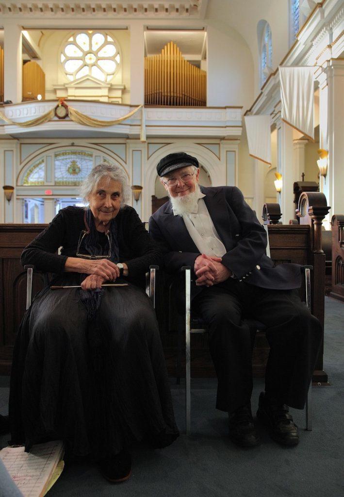 Arlene Sagan and Joe Liebling after the spring 2011 performance of Brahms German Requiem. Photo by Bill Hocker.