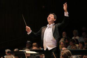 Ming Luke conducts BCCO in Brahms, A German Requiem. Photo by Bill Hocker