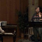 Matthew Szemela plays the violin at BCCO rehearsal