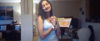 Maya Kherani sings for BCCO virtual Monday rehearsals.
