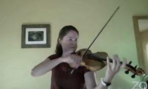 BCCO Concertmaster Caitlin McSherry gives a solo violin concert for the Monday night Virtual rehearsal